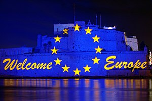 2004 enlargement of the European Union - Celebrations at Fort Saint Angelo commemorating Malta's entry into the EU