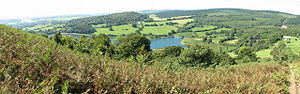 Wentwood - Wentwood reservoir and hills seen from Gray Hill