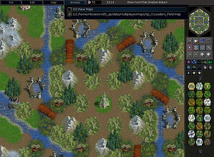 The Battle for Wesnoth's map editor Wesnoth-1.6-2.jpg