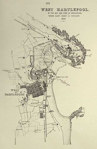 West Hartlepool - West Hartlepool map, 1859
