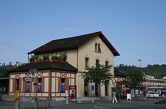 Wettingen railway station - Image: Wettingen Bahnhof 8299