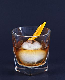 Old fashioned (cocktail) Simple alcoholic drink with bitters and suger