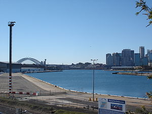 White Bay (New South Wales) - White Bay looking towards Sydney and the Harbour Bridge