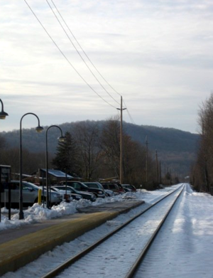 Whitehouse Station, New Jersey - Whitehouse Station with Cushetunk Mountain in the background
