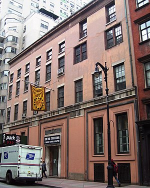 West Village - The Whitney Museum of American Art's original location, at 8–12 West 8th Street, between Fifth Avenue and MacDougal Street; and currently the home of the New York Studio School of Drawing, Painting and Sculpture.