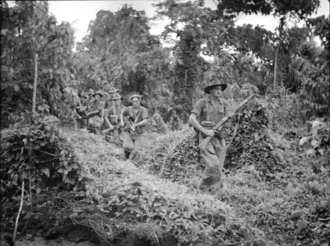 19th Battalion (Australia) - A patrol from the 19th Battalion around the Waitavalo Plantation, on New Britain, March 1945