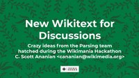 Wikimania 2019 - New Wikitext for Chat Pages.pdf