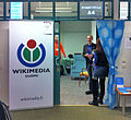 Wikimedia Finland drop-in demo booth at ITK 2014 in Hämeenlinna.jpg
