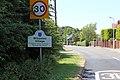 Willaston village sign, Hooton Road.jpg
