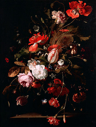 Willem van Aelst - Still Life with Flowers (1665).