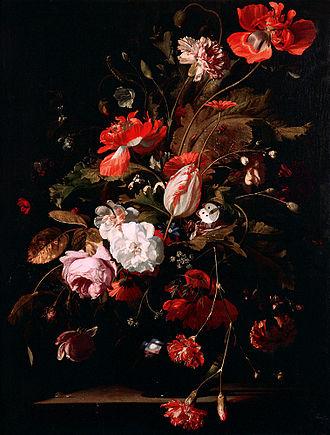 Willem van Aelst - Still Life with Flowers (1665).