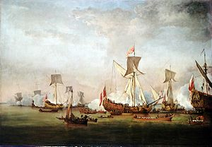 HMS Mary (1677) - Image: Willem van de Velde the Younger The Departure of William of Orange and Princess Mary for Holland nmm BHC0322