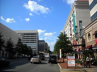 Friendship Heights - Facing north on Wisconsin Avenue in Friendship Heights