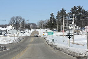 Wisconsin Highway 110 - Northern Terminus at US45