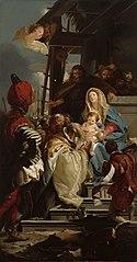 Itämaan tietäjät kruunaamassa Kristusta, kopio Giovanni Battista Tiepolon mukaan
