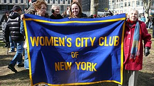Women's City Club of New York - Women's City Club of New York banner held up at a Planned Parenthood rally in NYC in 2011.