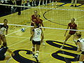 Women's volleyball, USC at Cal 11-22-08 2.JPG