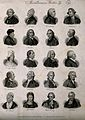 Writers; twenty portraits. Engraving by J.W. Cook, 1825. Wellcome V0006820.jpg