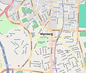 Wynberg, Cape Town - Image: Wynberg map