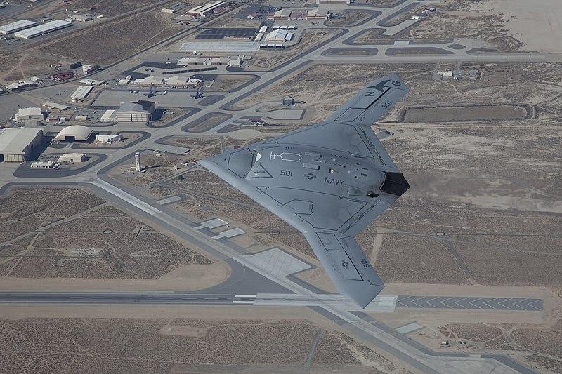 File:X-47B UCAS over Edwards AFB (111029-F-EM261-005).jpg