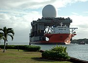 X band radar platform entering Pearl on Heavy lift Marlin