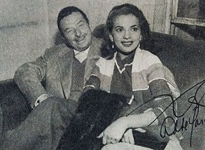 Abbe Lane - Abbe Lane with her husband Xavier Cugat