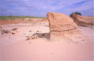A streamlined aeolian landform