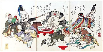 The Seven Lucky Gods In An 1882 Print By Tsukioka Yoshitoshi