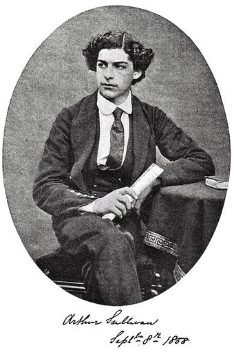 Sullivan aged 16, in his Royal Academy of Music uniform Young Arthur Sullivan.jpg