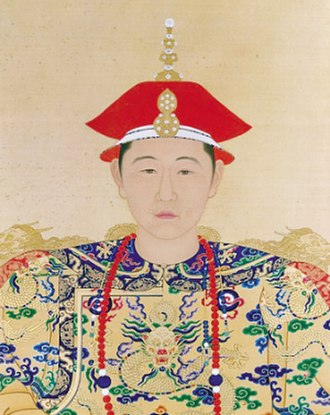 Kangxi Emperor - Portrait of the young Kangxi Emperor in court dress