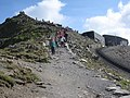 Yr Wyddfa - The summit and the cafe - geograph.org.uk - 1490952.jpg