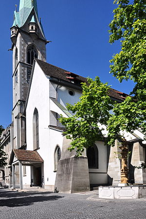 Predigerkirche Zürich - as seen from Zähringerplatz