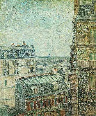 Asnières (Van Gogh series) - View of Paris from Vincent's Room in the Rue Lepic, 1887 Van Gogh Museum, Amsterdam (F341)