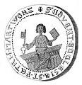 Zisterzienserinnenkloster St. Petri Worbis Siegel 1357.jpg
