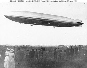 R38-class airship - The R38/ZR-2 making its first flight trial on 23 June 1921
