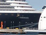 Zuiderdam Name Sign Port of Tallinn 1 June 2016.jpg