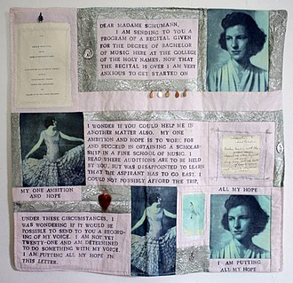 """Mary Catherine Lamb - """"All My Hope"""" quilt by Mary Catherine Lamb, 1987"""