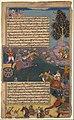 """Arjuna Battles Raja Tamradhvaja"", Folio from a Razmnama MET DP169713.jpg"