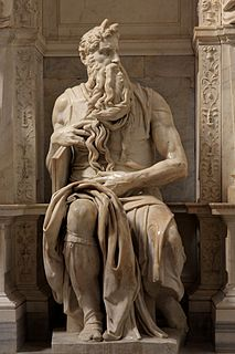 Features sculptures by Michelangelo