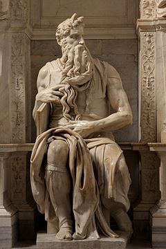 Image result for moses statue in rome