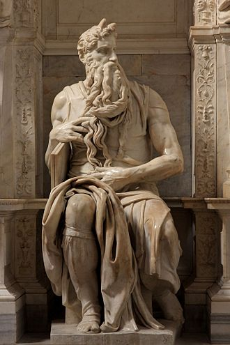 Tomb of Pope Julius II - Michelangelo's Moses.