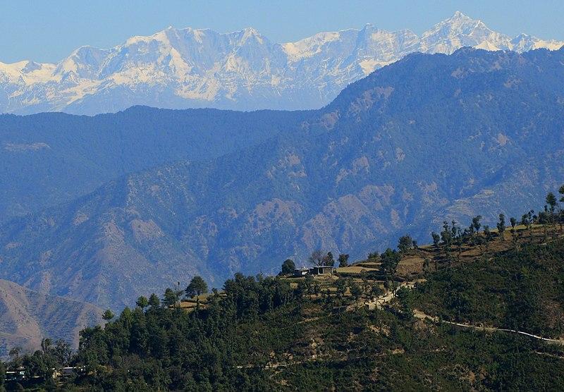 File:(A) Himalayan Mountain Range View, Uttarakhand India November 2013.jpg