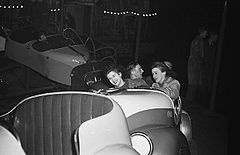"(A split second high speed flash picture at the Oswestry Fun Fair of the ""Whirling Whip"", 1948) (6435402407).jpg"