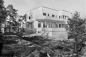 Södra Ängby - Newly built villa in Södra Ängby in 1938.