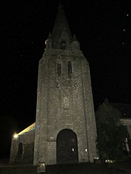 The church in Mareau-aux-Bois, at night