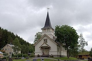 Øvre Rindal Chapel Church in Trøndelag, Norway