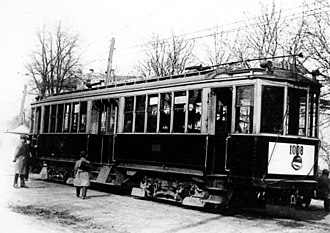 Trams in Kiev - Belgian Pullman wagons, modernized by the Kiev tram factory, were used throughout the 1930s