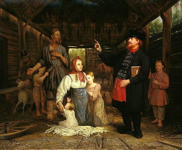 А. Красносельский. Сбор недоимок (1869)