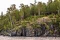 Скалы острова Валаам и паломница.jpg