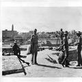המאורעות בארץ ישראל 1938 - ירושלים מעמדה בריטית על מגדל דוד. בתמונה מלון מלך דו-PHL-1088090.png